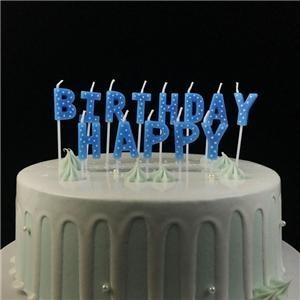 Nouveau style pas cher joyeux anniversaire lettre gâteau bougie
