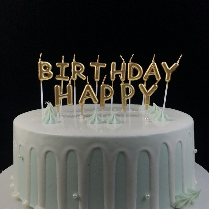 Decorative Gold Letter Shaped Birthday Candles