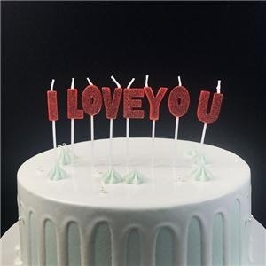 Fancy I Love You Letter Shaped Birthday Candle