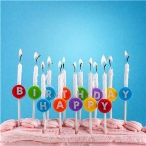 Cheap Small White Spiral Birthday Candles In Stock
