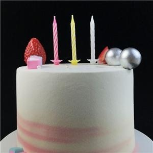 6CM Multicolored Spiral Birthday Cake Candle Company