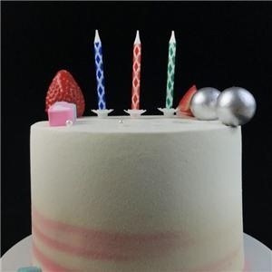 Diamond Happy Birthday Party Spiral Cake Candles