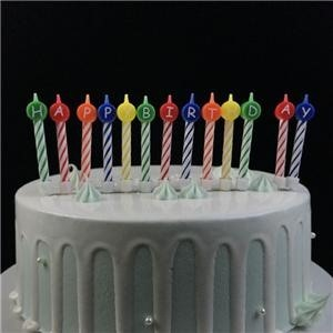 Mini Colorful Special Spiral Candle For Birthday