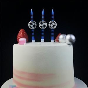 Bougies d'anniversaire décorations de fête de ballon de football de nouveauté