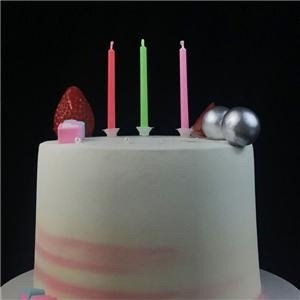 Fantastic Six Different Multi Color Flame Birthday Candles In Stock