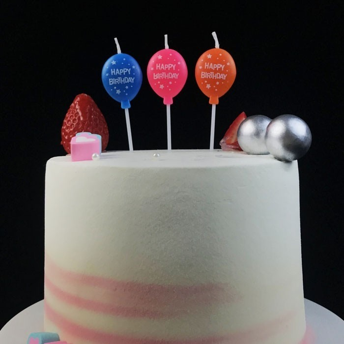 Smokeless Chinese Cute Colorful Balloon Shape Birthday Candle