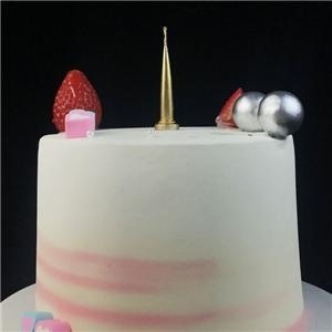 Gold Bullet Shaped Birthday Candles For Cake