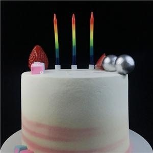 Hand Dipped Decorative Unique Rainbow Happy Birthday Party Cake Candles
