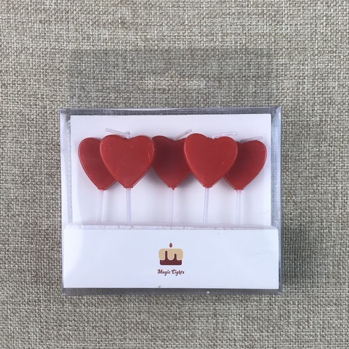 More Flat Red Heart Shaped Birthday Cake Candle For Decoration Manufacturers, More Flat Red Heart Shaped Birthday Cake Candle For Decoration Factory, Supply More Flat Red Heart Shaped Birthday Cake Candle For Decoration