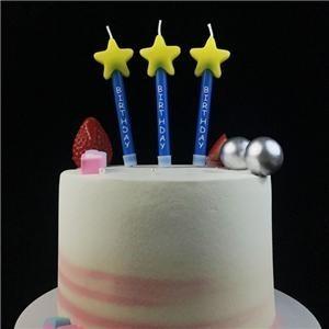 Bougie de décoration de fête d'anniversaire unique pas cher toxique fantaisie unique