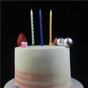 Custom Thin 10CM Long Birthday Party Cake Candles For Kids