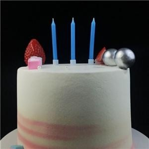 Blue Plain Birthday Cake Candles For Display