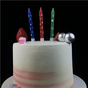 Funny Star Print Party Birthday Cake Candles For Children