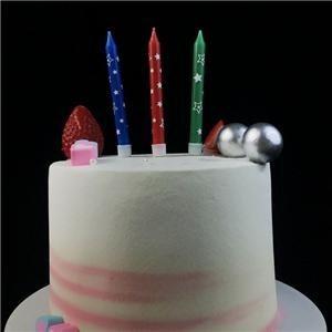 Drôle étoiles imprimer parti bougies de gâteau d'anniversaire pour les enfants