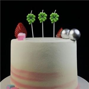 Decorative Lucky Clover Flower Happy Birthday Candles Sale