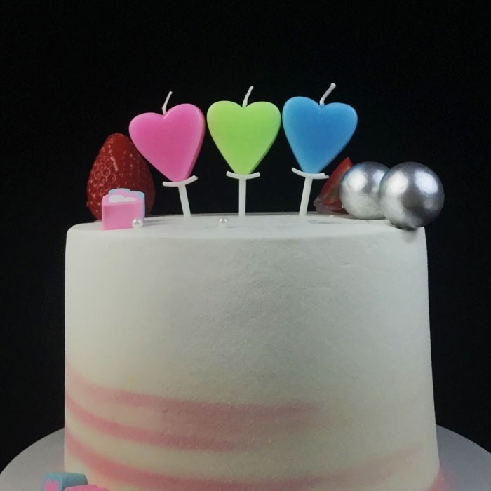 Multicolor Heart Shaped Wax Birthday Candle For Kids Manufacturers, Multicolor Heart Shaped Wax Birthday Candle For Kids Factory, Supply Multicolor Heart Shaped Wax Birthday Candle For Kids