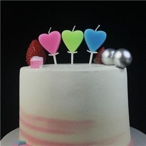 Multicolor Heart Shaped Wax Birthday Candle For Kids