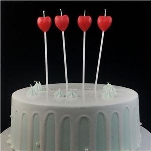 Top Red Heart Shaped Valentine Candles