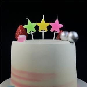 Produits de bougie d'anniversaire en forme d'étoile créative pour le gâteau