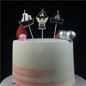 Pirate Themed Cartoon Birthday Cake Candles