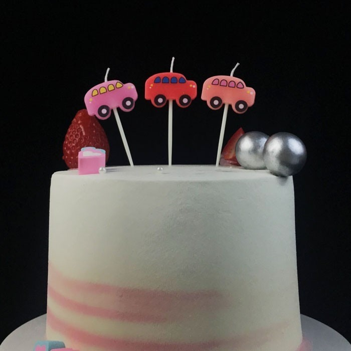 Fancy Car Shaped Birthday Cake Candles