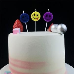 Novelty Smiley Face Childrens Birthday Gift Cake Candles