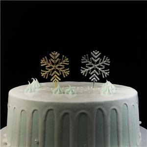 Plastic Christmas Snowflake Cake Picks Decoration
