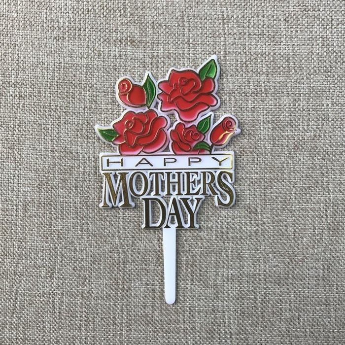Happy Mother's Day Flowers Plastic Cake Topper Sticks Decoration Manufacturers, Happy Mother's Day Flowers Plastic Cake Topper Sticks Decoration Factory, Supply Happy Mother's Day Flowers Plastic Cake Topper Sticks Decoration