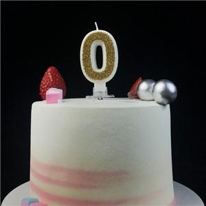 Latest Fancy Decorative Gold Glitter Number Birthday Cake Candles
