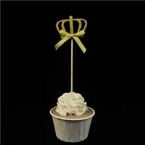 Gold Glitter Cute Crown Cupcake Decoration Toppers