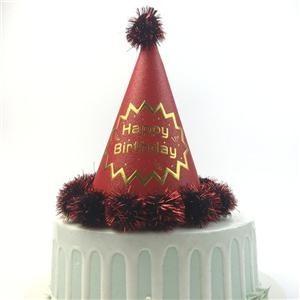Rote Papier-alles- Gute zum Geburtstagfeier-Kappe für Mädchen