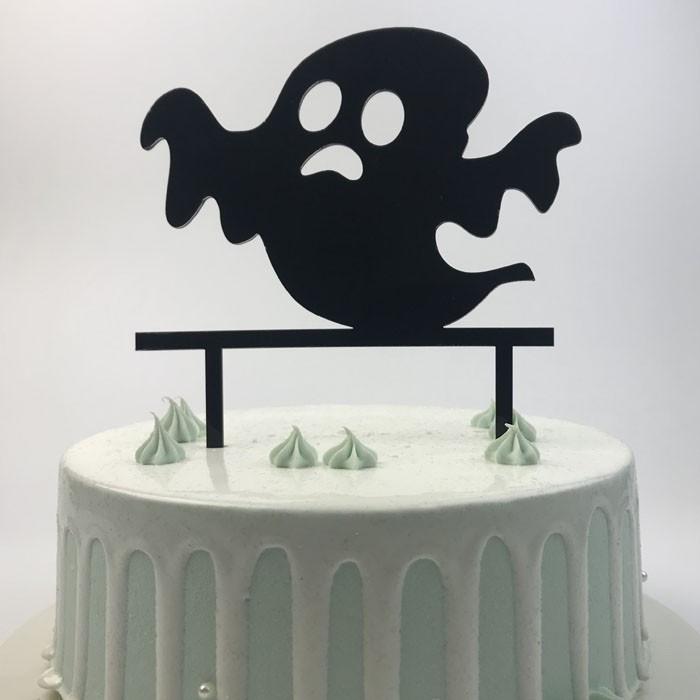 Gâteaux d'anniversaire Halloween en acrylique noir