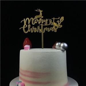 Cute Merry Christmas Acrylic Cake Topper Decorations