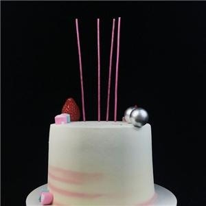 Hot Pink Sparkling Birthday Party Candles For Kids