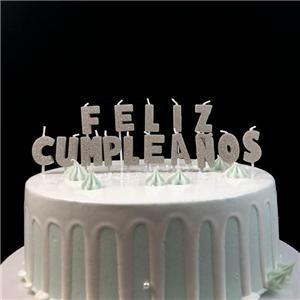Lettres d'anniversaire alphabet mini paillettes bougies pour gâteaux