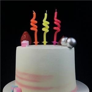 Funny Paraffin Wax Coil Birthday Candle For Sale