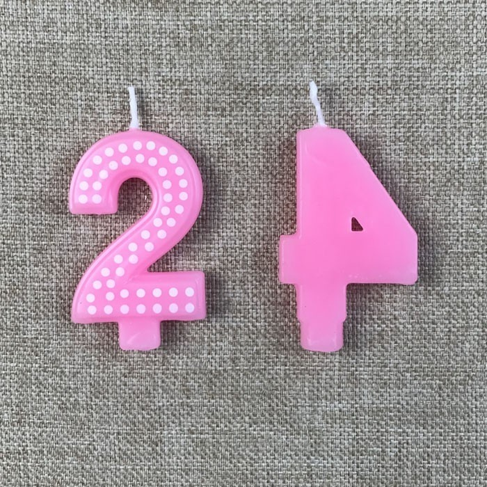 Decorative Pink Polka Dot Birthday Number Candle For Party Manufacturers, Decorative Pink Polka Dot Birthday Number Candle For Party Factory, Supply Decorative Pink Polka Dot Birthday Number Candle For Party