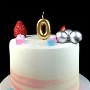 New Cute Mini Birthday Gold Number Candle For Children