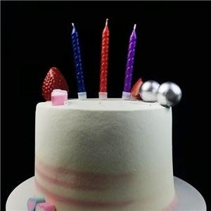 Rainbow Spiral Birthday Cake Candle From China