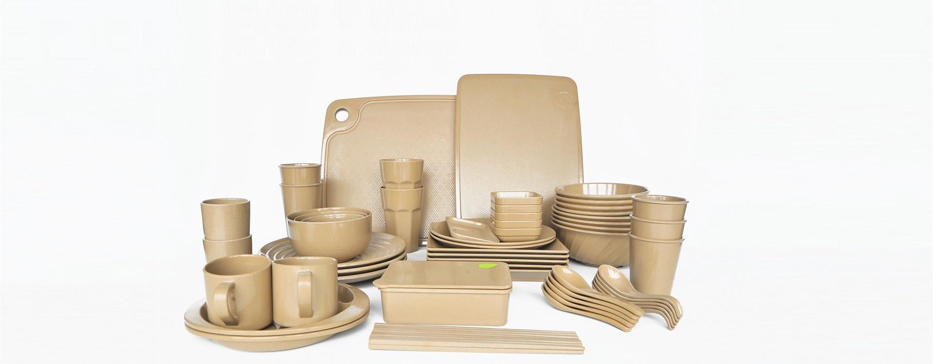 rice husks family tableware
