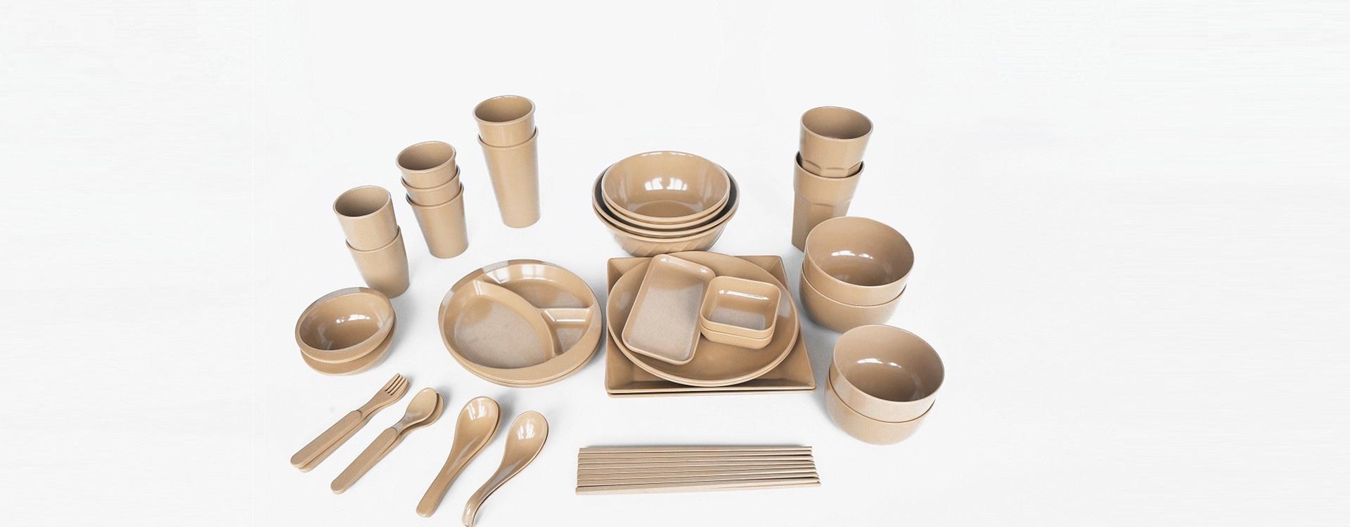 rice husks tableware