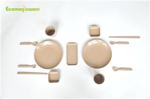 Couple Rice Husk Tableware