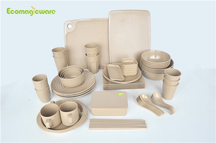 Biodegradable Rice Husk Tableware