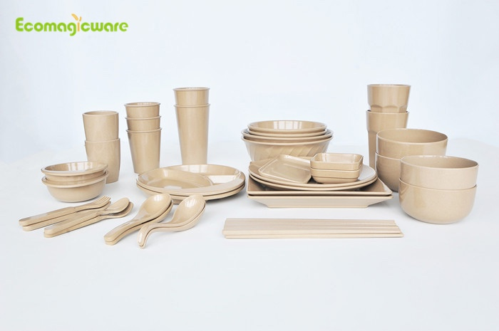 Family Rice Husk Tableware Sets