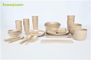 Family Rice Husk Tableware Sets