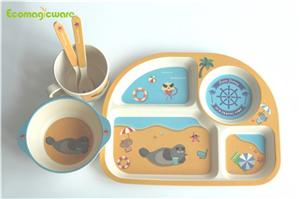 Biodegradable Plant Fiber Children Dinnerware Sets