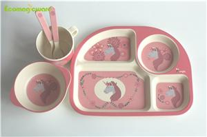 Children Plant Fiber Tableware Sets