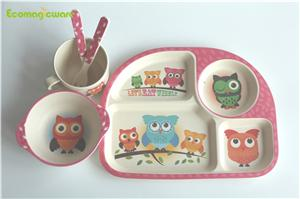 Bamboo Fiber Kids Tableware