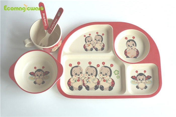 Biodegradable Kids Plant Fiber Tableware