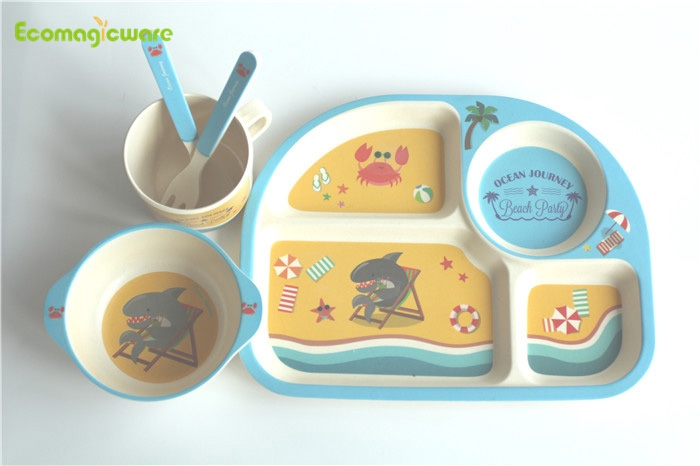 Biodegradable Kids Plant Fiber Tableware Sets